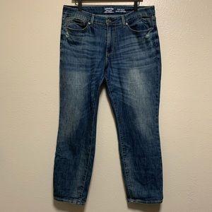 Women's Levi's mid rise slim cuffed denim jeans